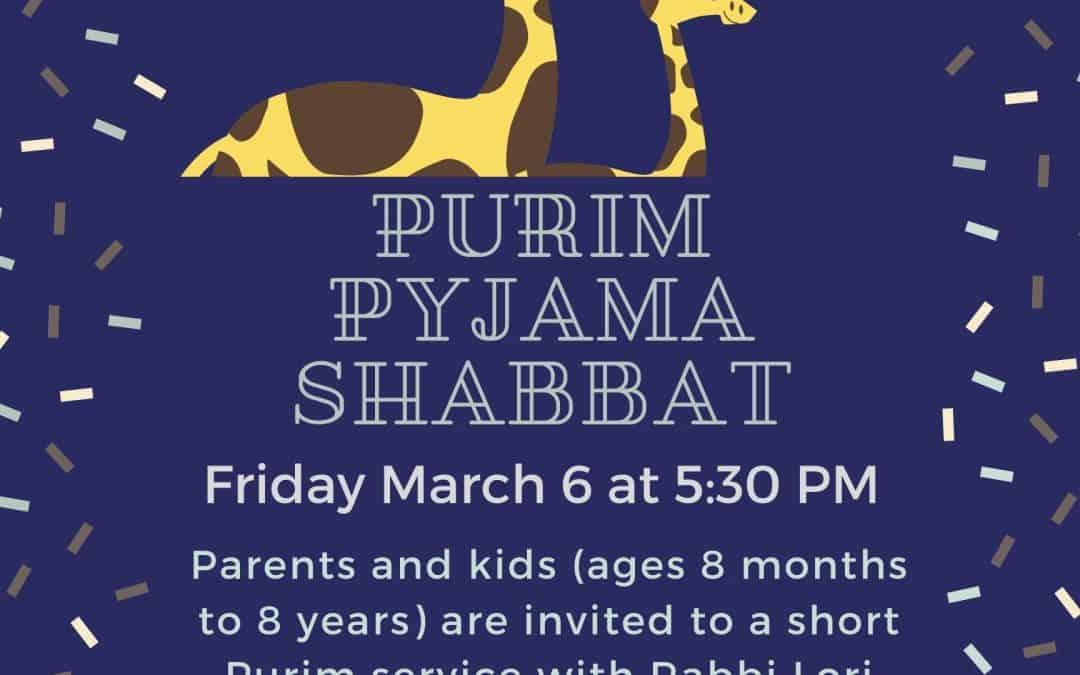 Purim PJ Shabbat
