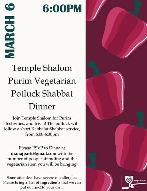 Purim Potluck Dinner